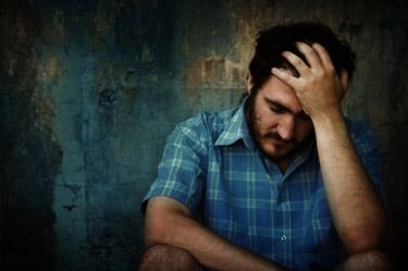 man looking sad